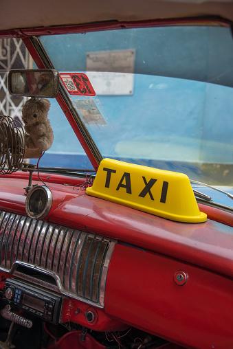 Vintage Car Taxi -Cuba - gettyimageskorea
