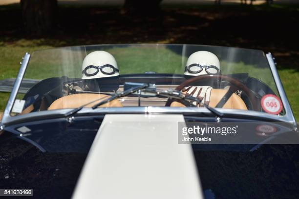 Vintage cars are displayed at the Concours of Elegance at Hampton Court Palace on September 1 2017 in London England The show brings together a...