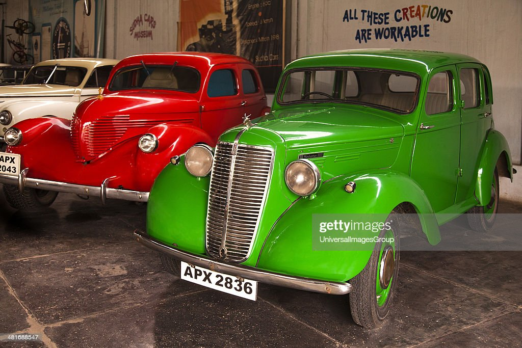 Vintage cars in a museum, Sudha Car Museum, Hyderabad, Andhra ...