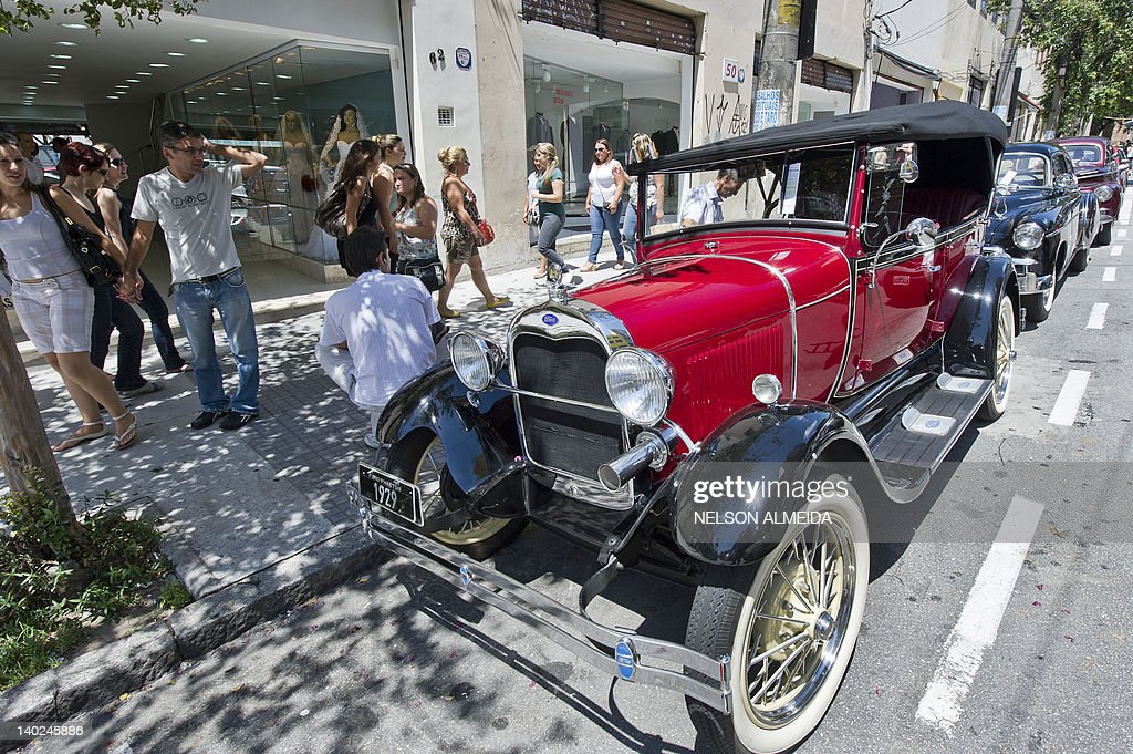 Vintage cars used in wedding ceremonies Pictures | Getty Images