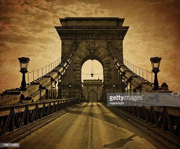 vintage ponte chain - ponte széchenyi lánchíd - fotografias e filmes do acervo