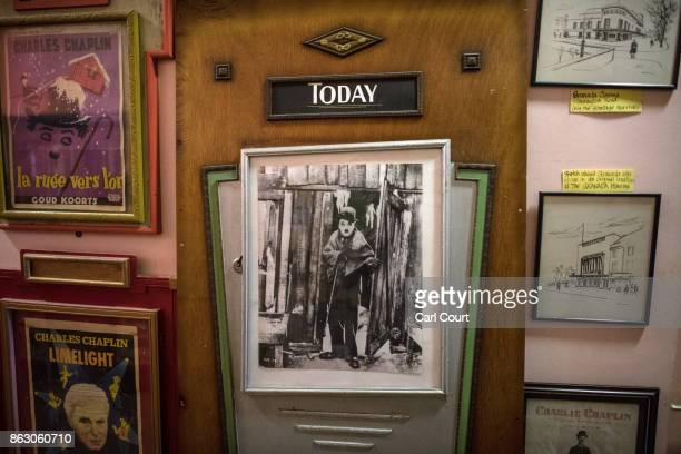 A vintage Charlie Chaplin movie poster is displayed in the Cinema Museum on October 19 2017 in London England The Cinema Museum was founded in 1986...