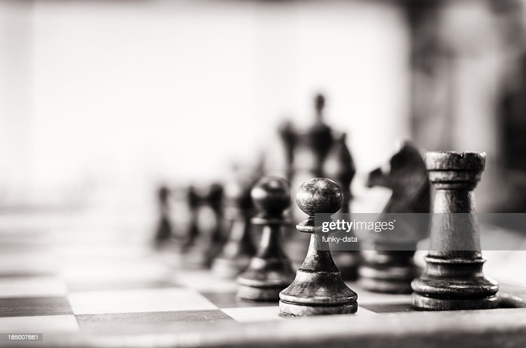 Vintage chess board : Stock Photo