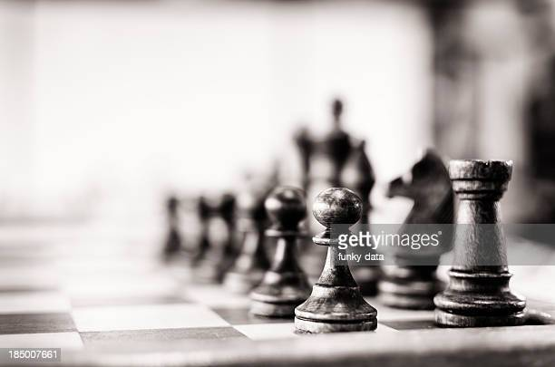 vintage chess board - strategy stock photos and pictures