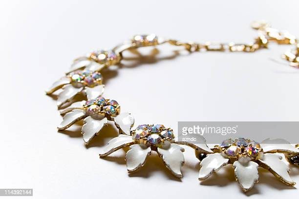 vintage chic - short necklace stock pictures, royalty-free photos & images
