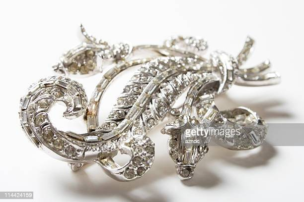 vintage chic - brooch stock pictures, royalty-free photos & images