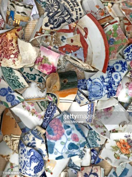 vintage china pieces - antique stock pictures, royalty-free photos & images