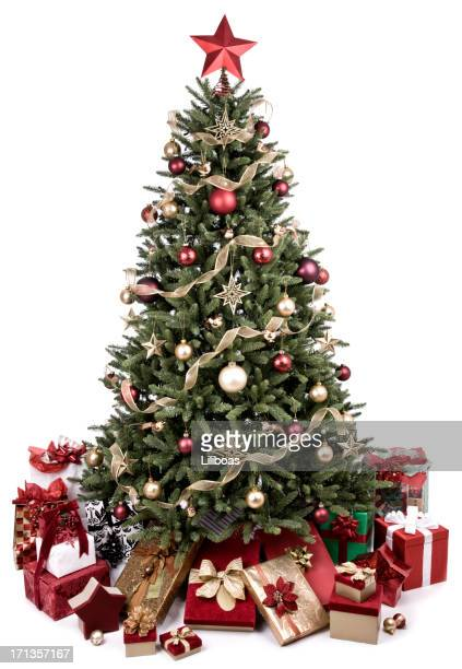 vintage christmas tree - christmas tree stock pictures, royalty-free photos & images
