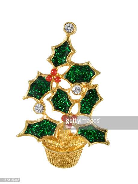 vintage christmas tree pin - brooch stock pictures, royalty-free photos & images