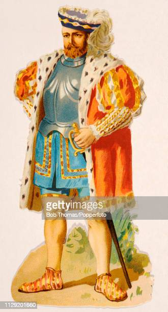 A vintage chromolithograph of King Henry VIII published circa 1890