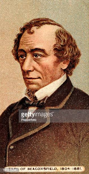 Vintage cigarette card featuring British Prime Minister Benjamin Disraeli 18041881 1st Earl of Beaconsfield included in the Builders of the Empire...