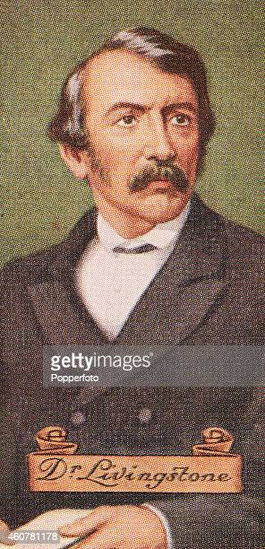 A vintage cigarette card featuring Doctor David Livingstone printed in London circa 1935