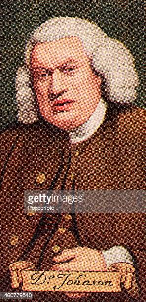 A vintage cigarette card featuring lexicographer Doctor Samuel Johnson printed in London circa 1935