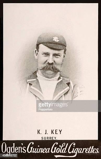 A vintage cigarette card featuring Surrey cricketer Kingsmill James Key circa 1901