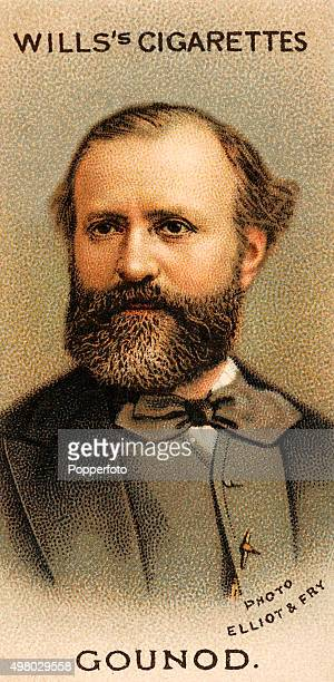 A vintage cigarette card featuring the French composer Charles Gounod published in London circa 1912