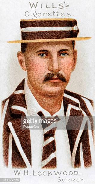 Vintage cigarette card featuring William Henry Lockwood who played cricket for Surrey and England circa 1901