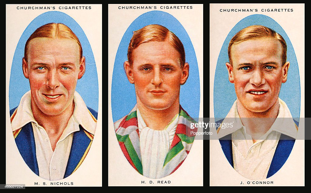 Essex Cricket - Vintage Cigarette Cards : News Photo