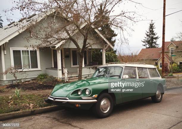vintage citroën in the u.s. - citroën ds stock photos and pictures