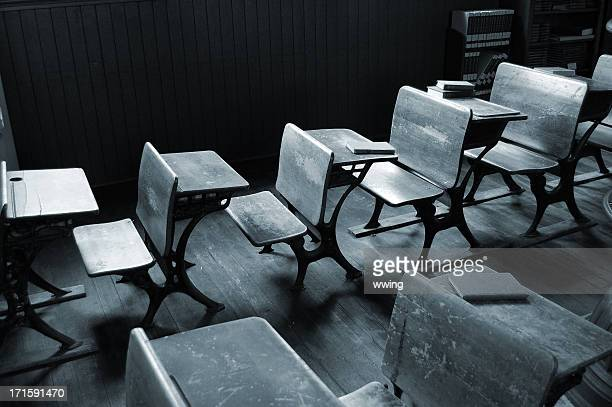 Vintage Classroom in Black and White