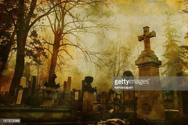 vintage cluj cemetery - victorian wallpaper stock pictures, royalty-free photos & images