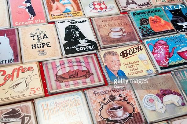 vintage coasters-verschiedene Nachbildungen von vintage coasters