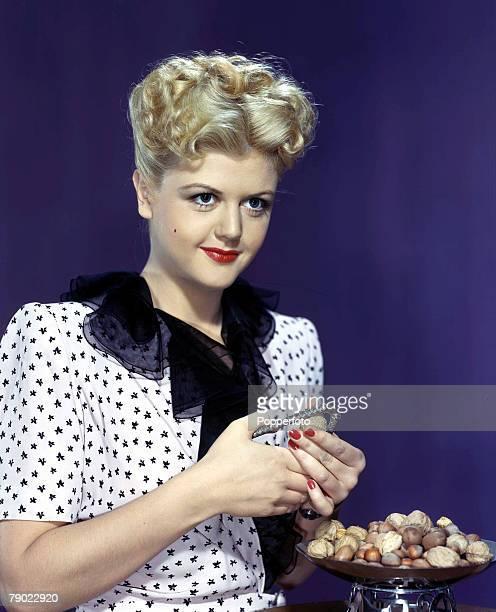 1953 Vintage colour transparency Cinema A portrait of the actress Angela Lansbury