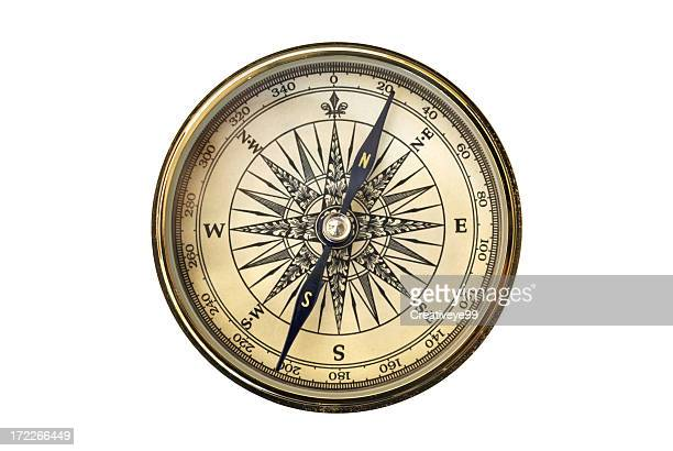 vintage compass - compass stock pictures, royalty-free photos & images
