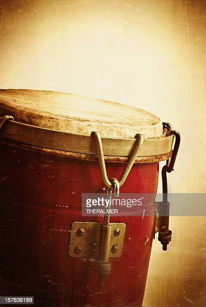 vintage conga instrument - rumba stock photos and pictures
