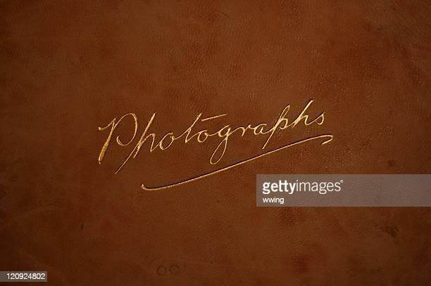 capa para álbum de fotografia vintage - capa de livro - fotografias e filmes do acervo