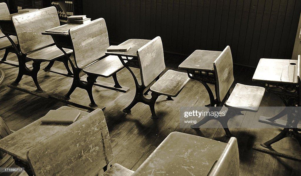 Vintage  Desks in Sepia : Stock Photo