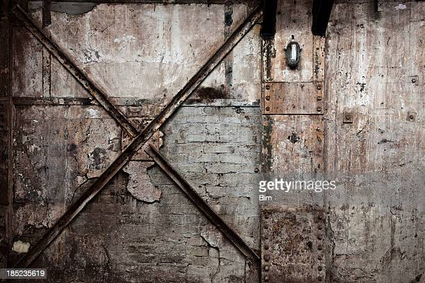 Vintage Destroyed Brick Wall Background