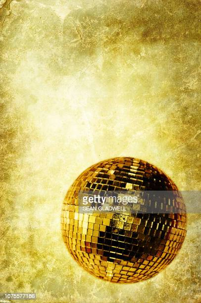 vintage disco ball - disco ball stock photos and pictures