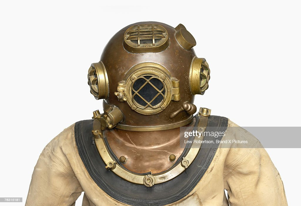 vintage diving suit stock photo getty images
