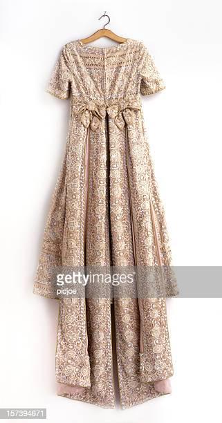 vintage dress on hanger