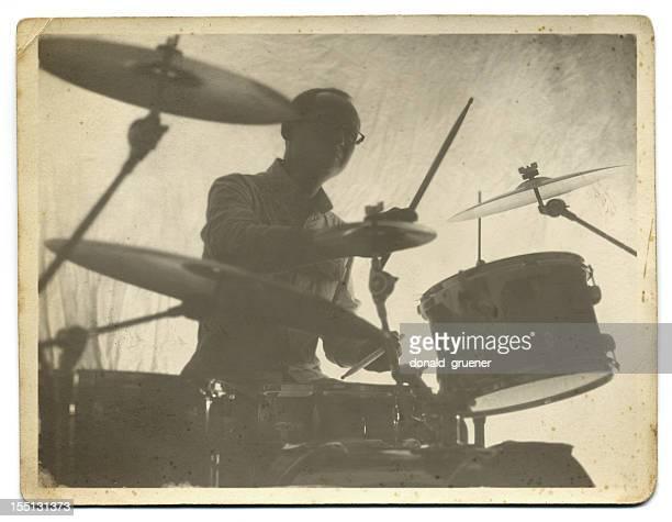 Vintage Drummer Photo