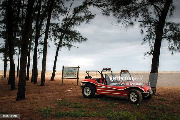 Vintage dune buggy on the coast of South Africa.