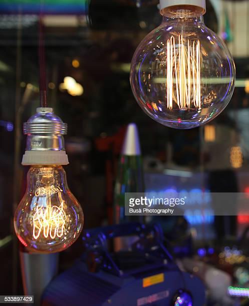 Vintage 'Edison' light bulbs