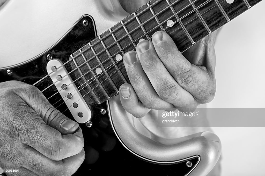 Vintage Electric Guitar Detail : Stock Photo