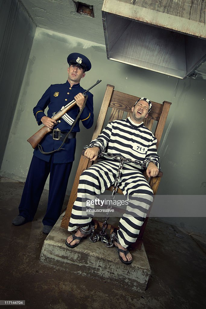 Vintage Execution with Electric Chair : Stock Photo