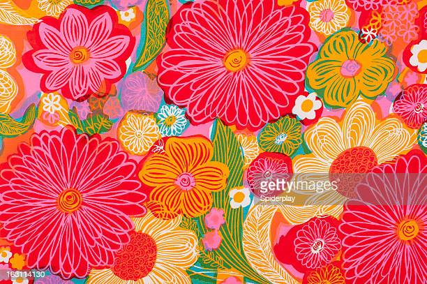 Vintage Fabric Background SB26 1962-1972
