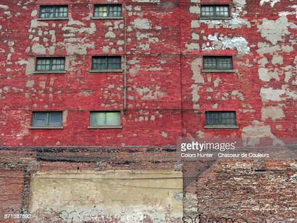 Vintage facade in patinated brick #2