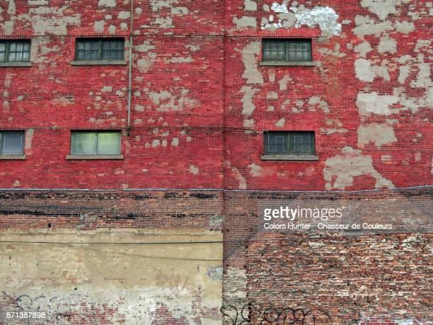 Vintage facade in patinated brick #1