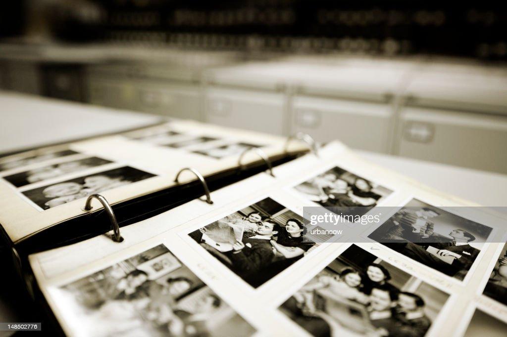 Vintage family portraits. : Stock Photo