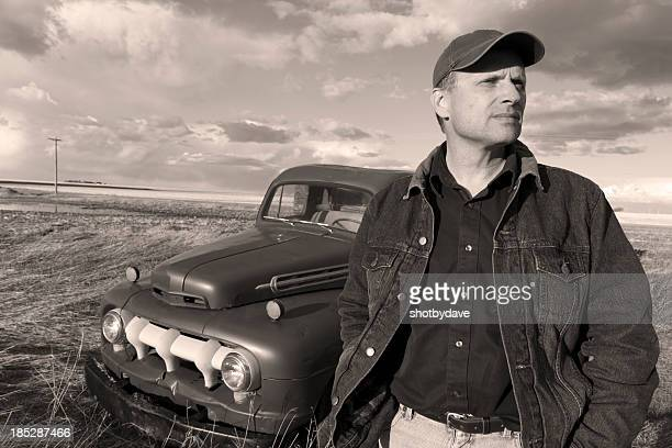 Vintage Farmer and Truck