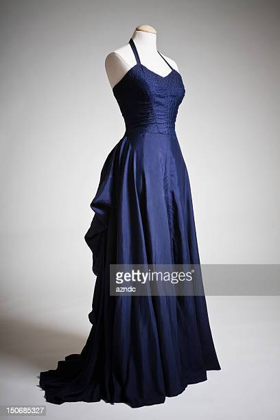 vintage fashion - evening gown stock photos and pictures