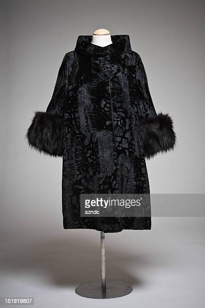 vintage fashion - fur coat stock pictures, royalty-free photos & images