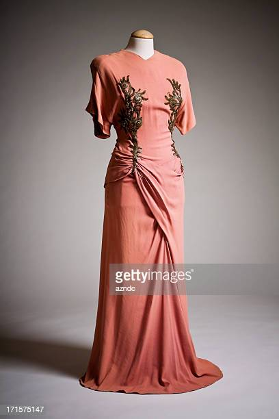 vintage fashion - evening gown stock pictures, royalty-free photos & images