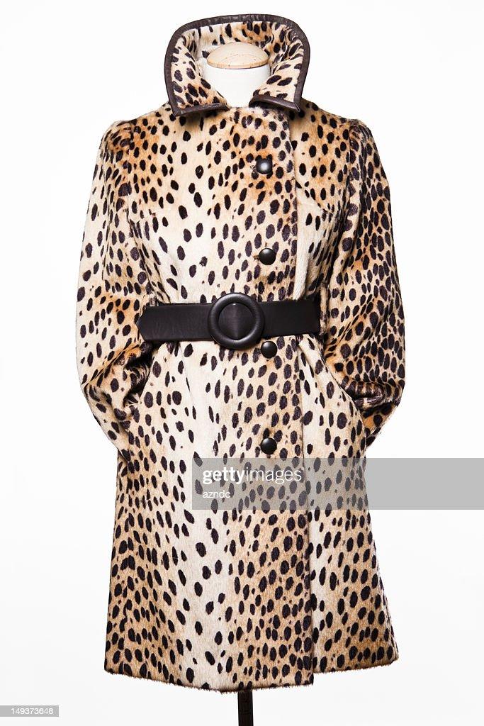 Vintage Faux Fur Coat : Stock Photo