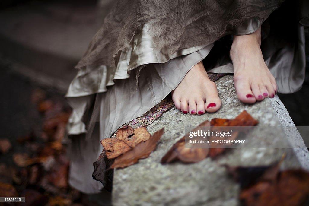 Vintage feet : Stock Photo