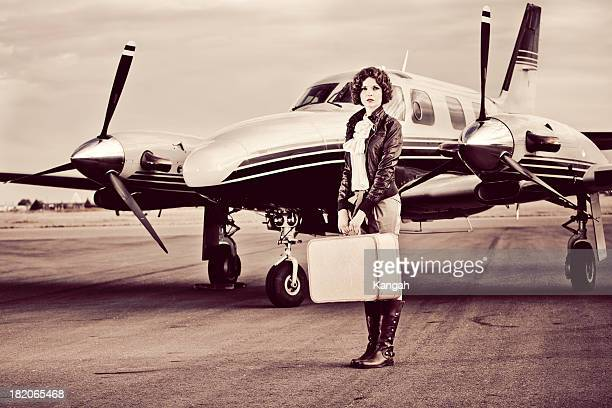Vintage Female Pilot